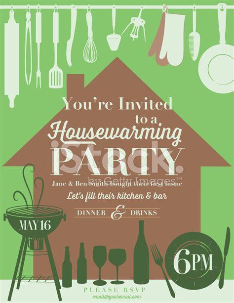 Housewarming Party Kitchen Invitation stock photos