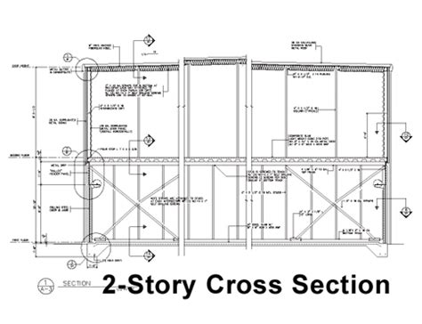 Sectional Drawing Pdf by 2 Story Cross Section Building