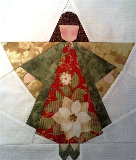 pattern for christmas angel angel quilt paper pieced angel block