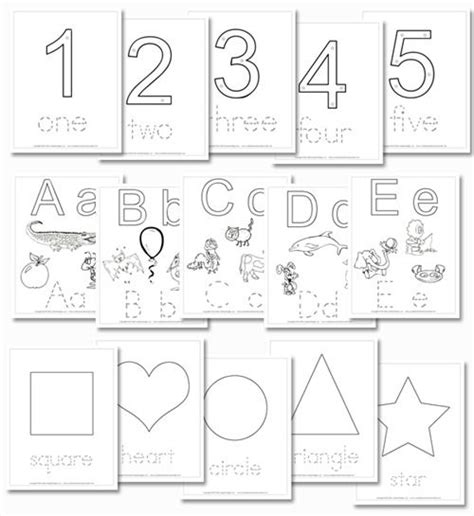 printable letters numbers and shapes free printable preschool daily learning notebook the