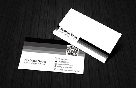 black and white card template black white business card template