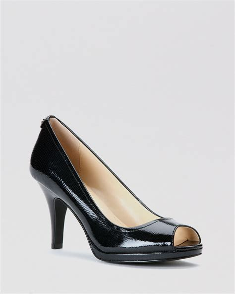 black open toe high heels calvin klein peep toe pumps kail high heel in black lyst
