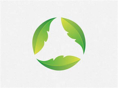green leaves circle logo design concept  ilarion ananiev
