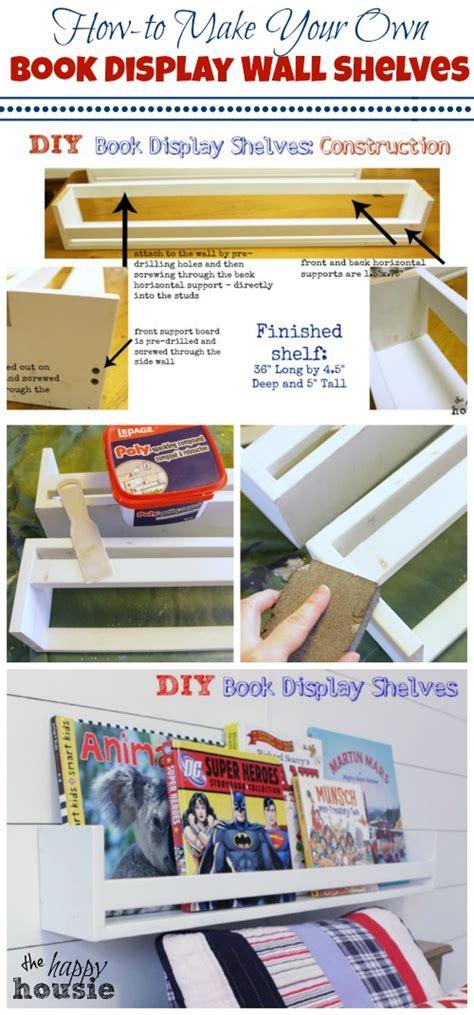 diy book display wall shelves pb knock the