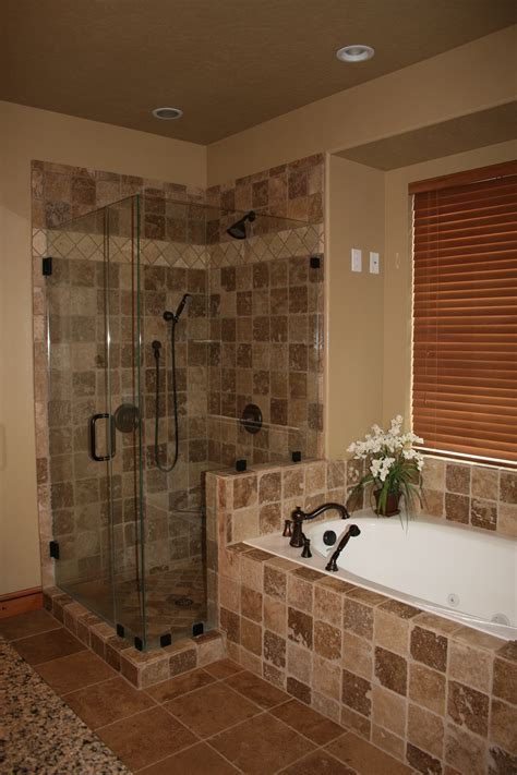 masters with shower and bath bathrooms