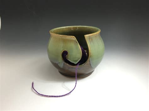 Handmade Pottery Bowls For Sale - handmade ceramic yarn bowl