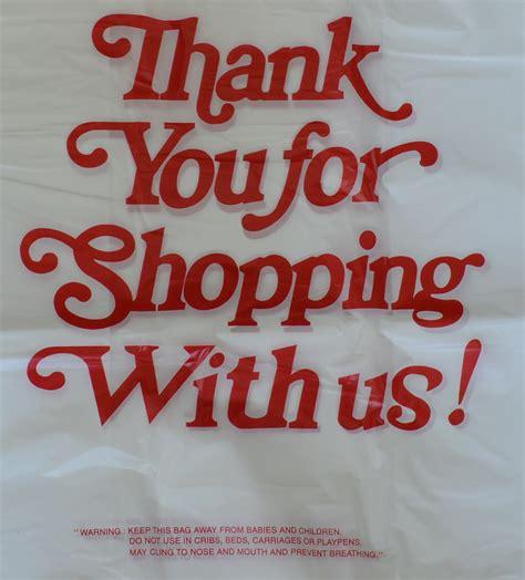 Plastik Thank You thank you plastic bags font trend bags