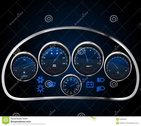 image gallery labeled car dashboard vector realistic car dashboard stock vector image 24089664