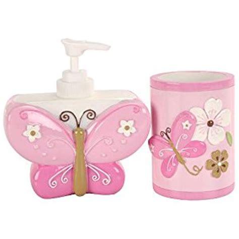 butterfly bathroom sets amazon com little boutique soap dispenser and tumbler