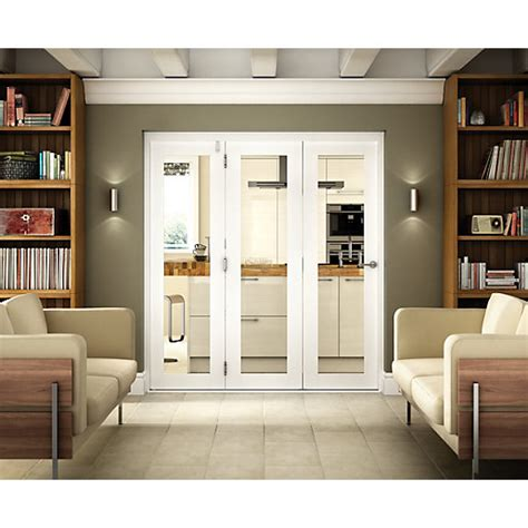 Setting Interior Doors by Wickes Belgrave Folding 3 Door Set White Pre