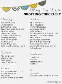 free printable setting up house checklist kitchen