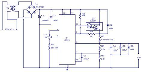 2n3055 alimentatore lm723 high precision adjustable voltage regulator