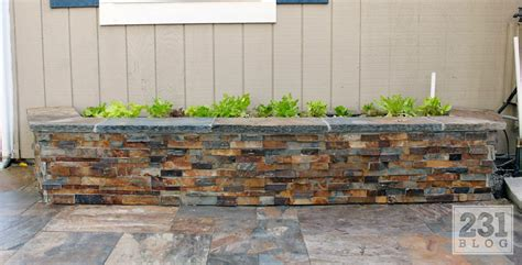 Slate Planter Boxes by 231 Designs Diy Slate Ledge Planter Boxes