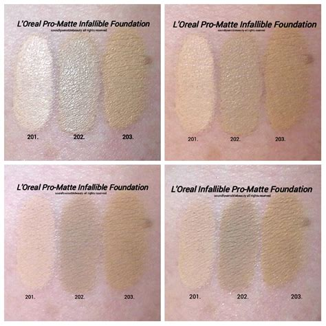 L Oreal Infallible Pro Matte l oreal pro matte infallible foundation review swatches