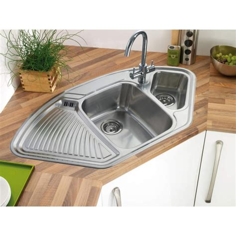 corner kitchen sinks uk kitchen corner sinks uk villeroy boch corner 1075mm x