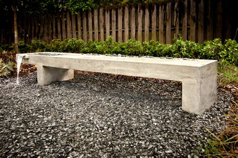 stone patio bench design modern outdoor bench water feature modern landscape