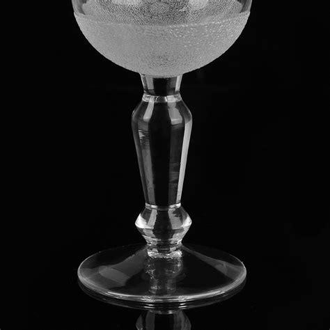 kerzenhalter glas kelch glass goblet candle holder