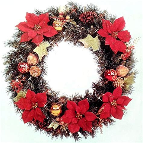 large pre lit christmas wreaths