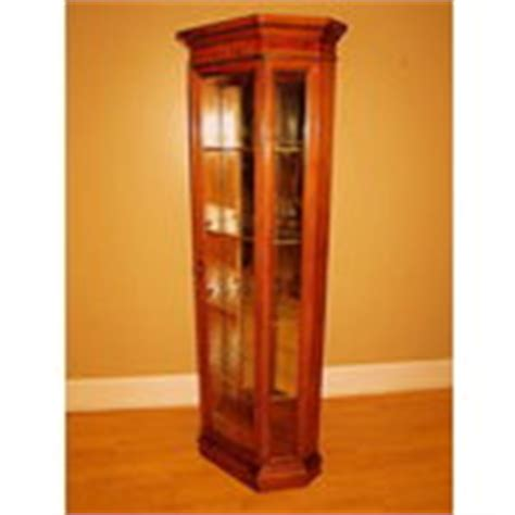 american martinsville traditional curio display cabinet
