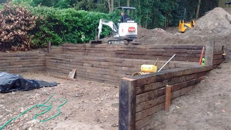 railway sleeper walls landscaping