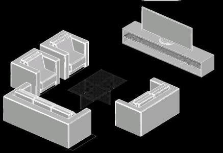 sofa  tv stand  autocad  cad   kb bibliocad