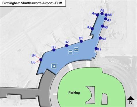 birmingham uk airport map birmingham shuttlesworth bhm airport terminal map