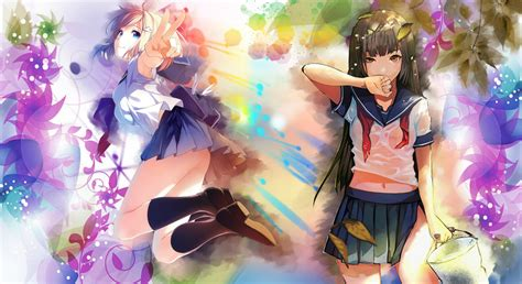 wallpaper anime deviantart colorful anime wallpaper by sislex on deviantart