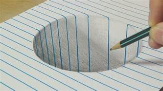 3d Drawing Online drawing a round hole on line paper trick art with