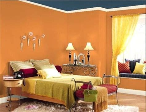 orange bedroom design ideas orange bedroom wall paint color with blue ceiling design ideas