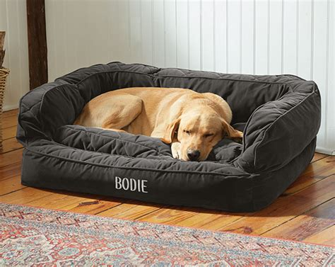 orvis dog couch dog bed with bolster lounger deep dish dog bed with