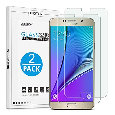 Screen Max Tempered Glass Samsung Galaxy Note 5 omoton galaxy note 5 screen protector tempered glass screen protector for samsung galaxy note