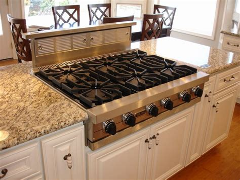 kitchen islands with cooktops 17 best images about wildflower kitchen pop up vents stove