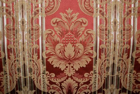 red damask upholstery fabric striped damask fabric red and gold damask by shopmyfabrics