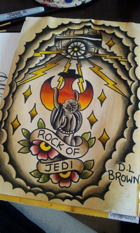 tattoo old school star wars star wars old school tattoo flash ink pinterest