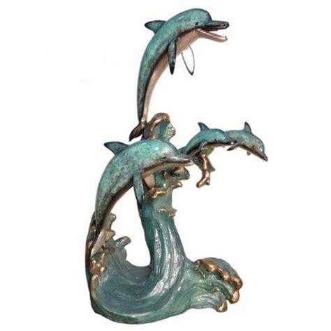 bronze dolphin family fountain