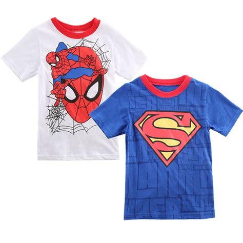 new 2016 boy superman t shirt clothes o neck sleeve