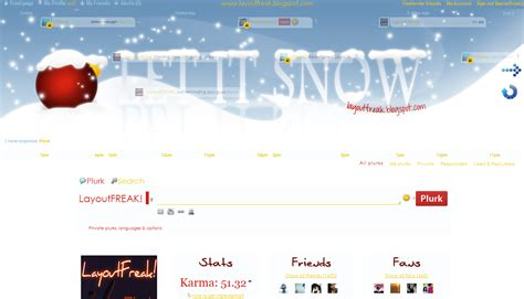 Snow Layout by Layoutfreak Let It Snow Layout