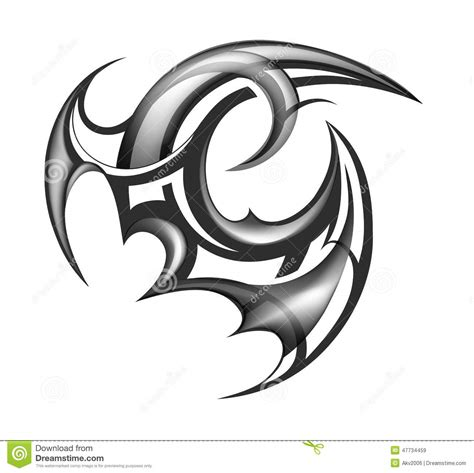 tattoo 3d vector tribal art tattoo stock vector image of abstract ethnic