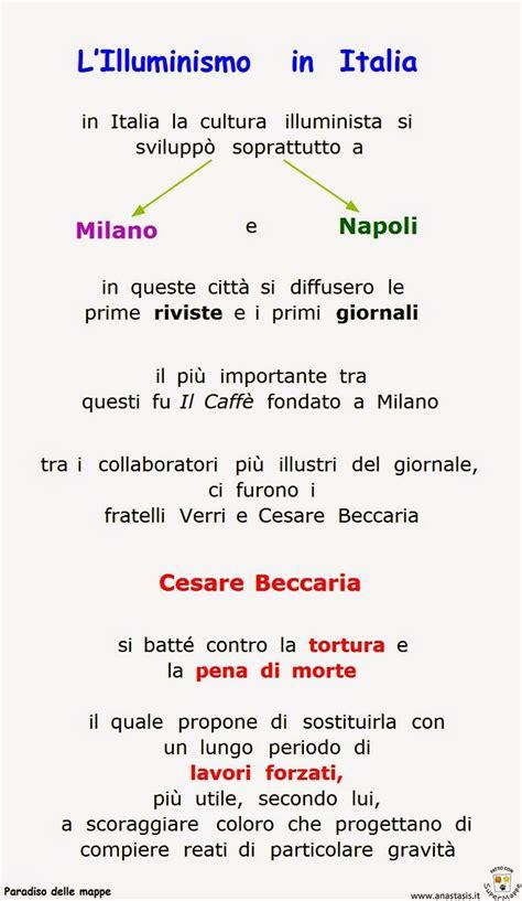 illuminismo in italia letteratura paradiso delle mappe l illuminismo in italia