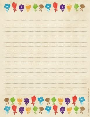 free cute printable notebook paper 7 best images of cute printable note free printable