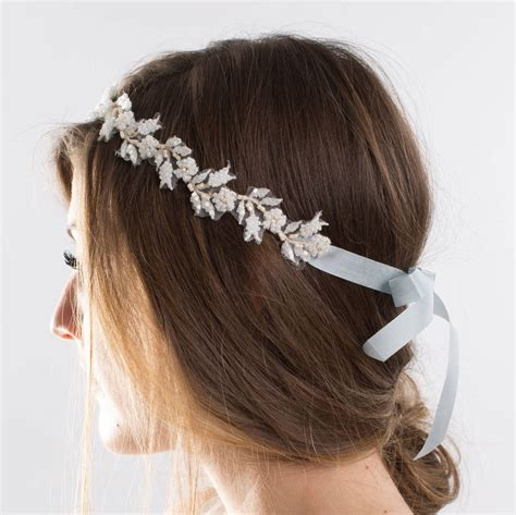 beaded bridal headpiece beaded bridal vine headpiece by sheldon