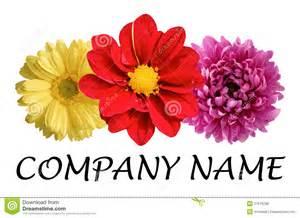 flower companies flower logo royalty free stock photos image 31679788