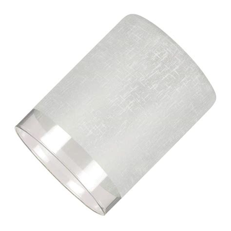 Replacement Glass L Shades Cylinder by Westinghouse 81014 2 25 Quot Fitter White Linen Cylinder 2