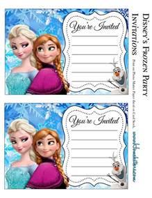 frozen birthday invitation printable frozen free printable invitations is it for