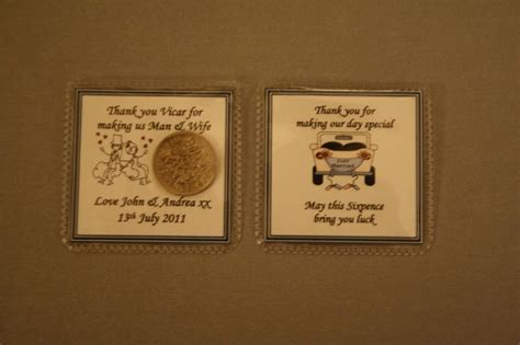 thank you gifts for wedding helpers that are unique personalised lucky sixpence keepsake wedding than