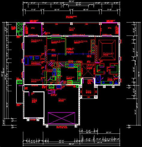 Cad Building Template Us House Plans House Type 1 Free Building Plans In Autocad Format