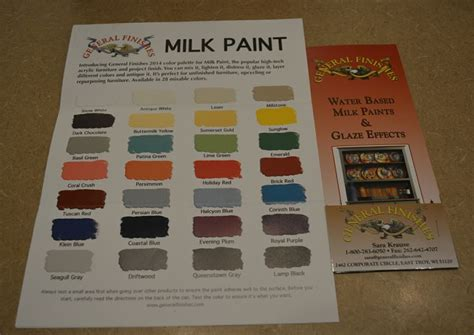 general finishes water based milk paints color chart wood works milk general