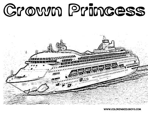 cruise ship coloring pages to print coloring pages