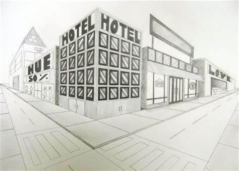 2 Point Perspective Drawing Cityscape by Artisun 2 Point Cityscapes Student Work