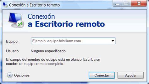 conexion a escritorio remoto habilitar escritorio remoto en windows
